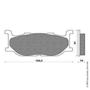 PLAQUETTES TMAX 500 AVANT (01-03)