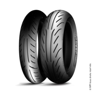 Pneu Michelin POWER PURE : 120/80-14 58S, 150/70-13 64S, 120/70-13 53P, 130/60-13 53P, 110/90-13 56P