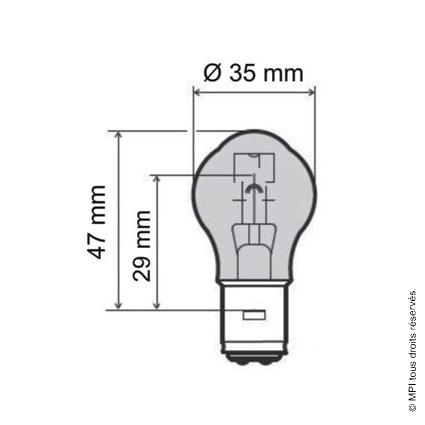 AMPOULE 12V / 35 / 35W (BA20D) (10 PCS)