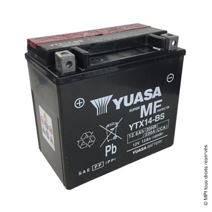 BATTERIE YTX14-BS (YUASA)