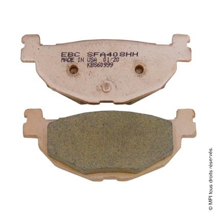 (SFA408HH) PLAQUETTE TMAX 500 ARR 04-11 (METAL FRITE)
