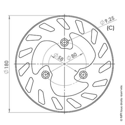 DISQUE FREIN AR ELYSTAR (176)